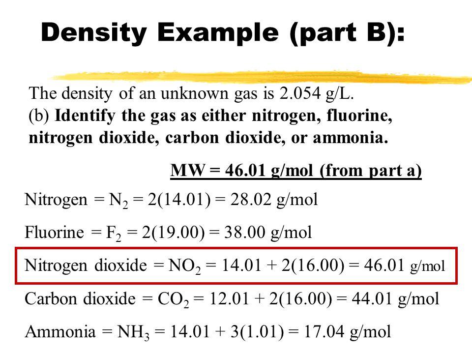 Density Example (part B):