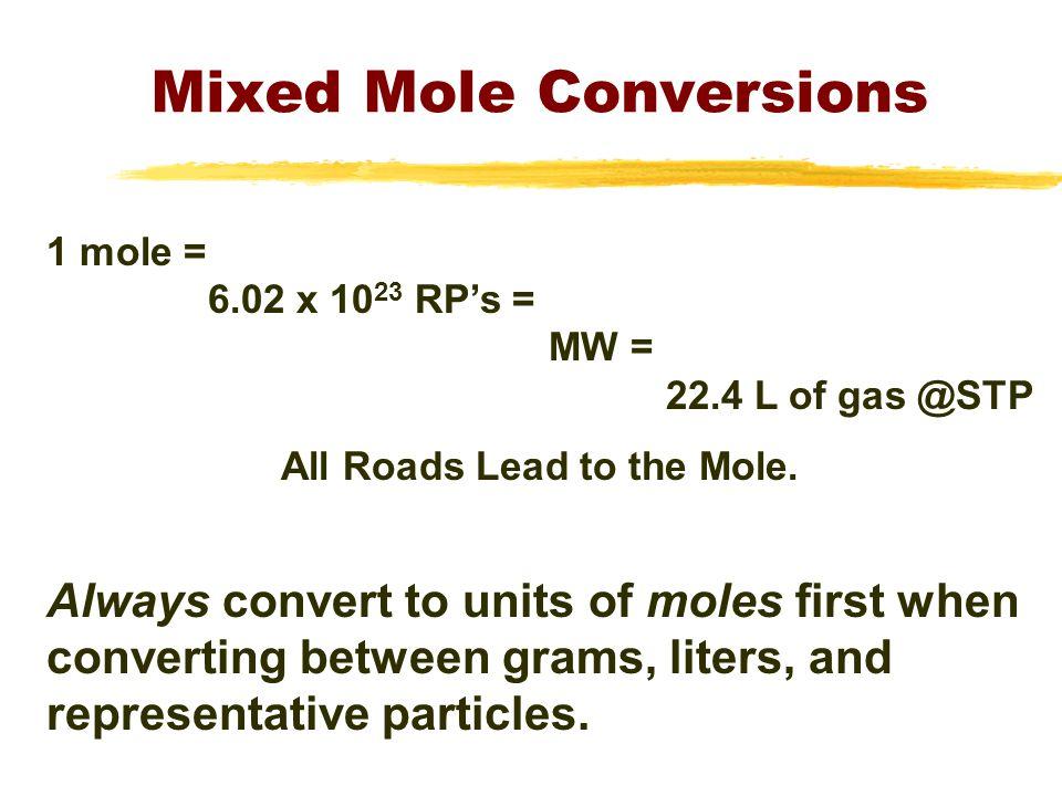 Mixed Mole Conversions