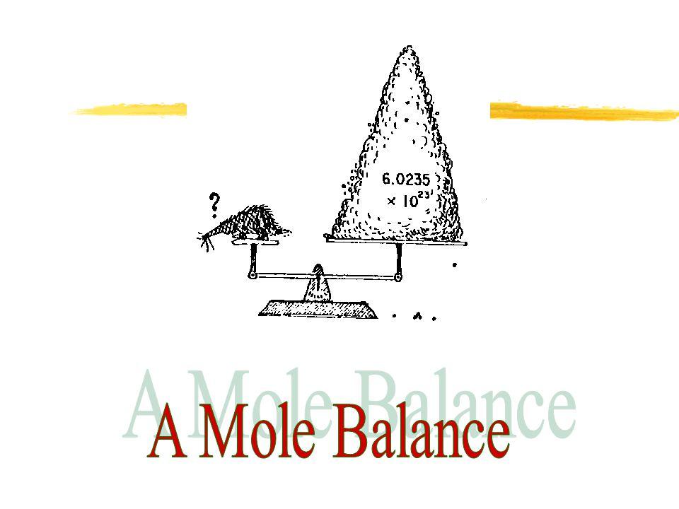 A Mole Balance