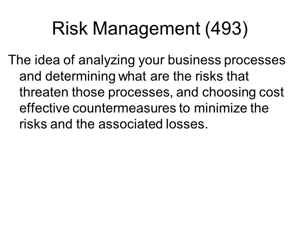 Risk Management (493)