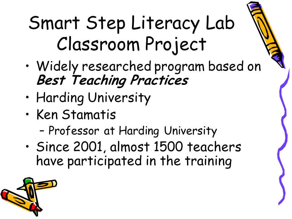 Smart Step Literacy Lab Classroom Project