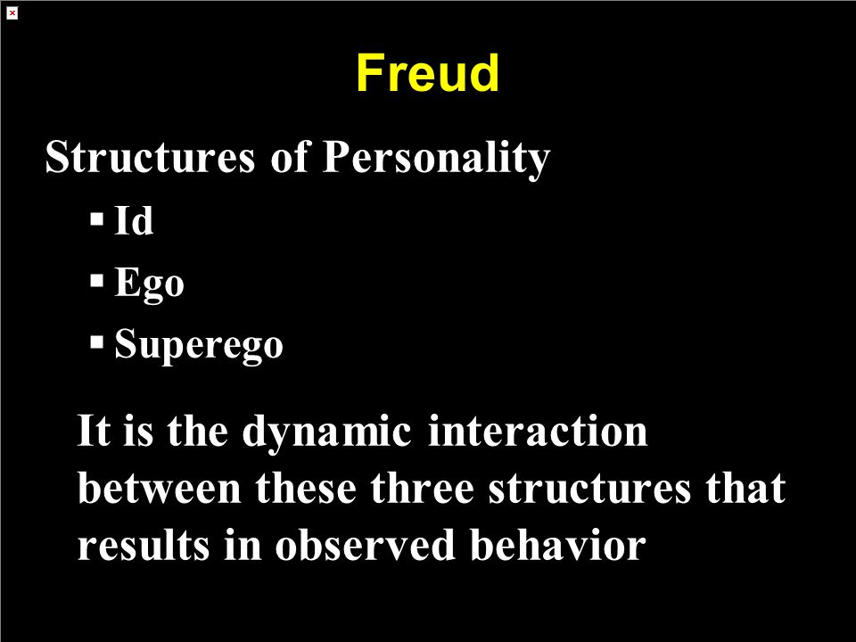 Freud Structures of Personality