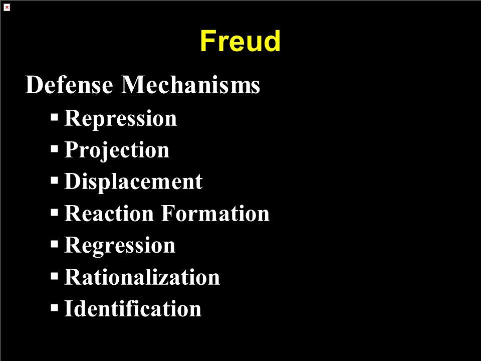 Freud Defense Mechanisms Repression Projection Displacement