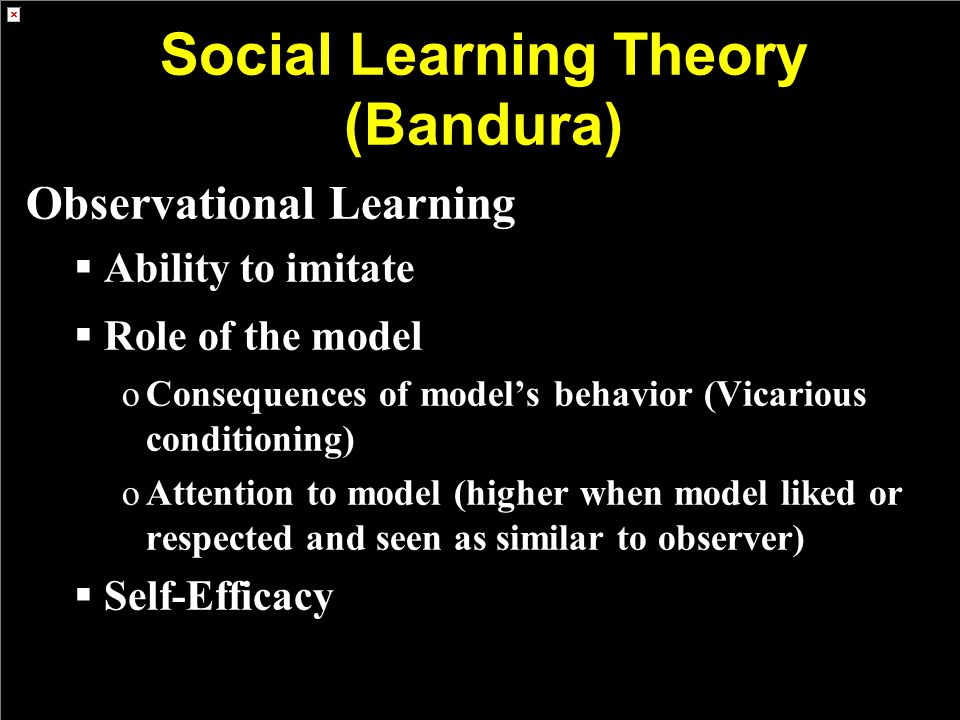 Social Learning Theory (Bandura)