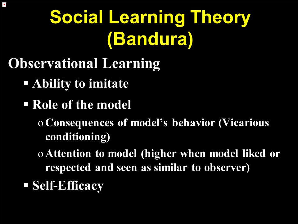 Social Learning Theory (Bandura)
