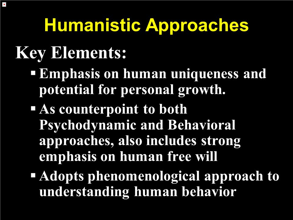 Humanistic Approaches