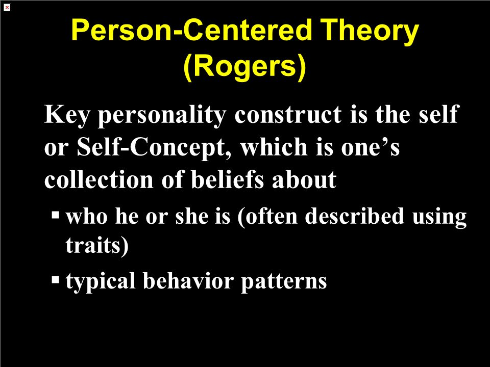 Person-Centered Theory (Rogers)