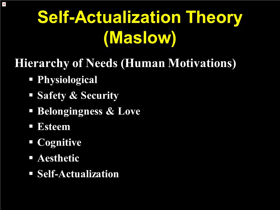 Self-Actualization Theory (Maslow)