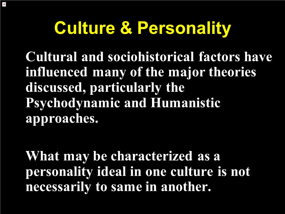 Culture & Personality