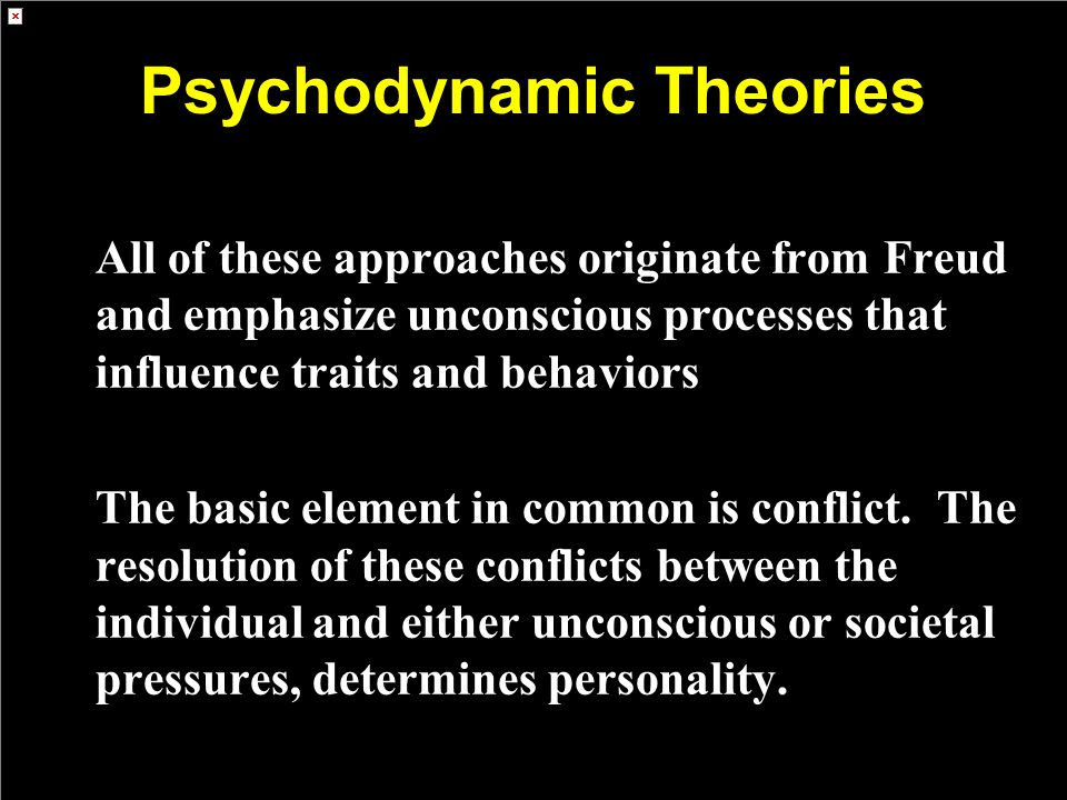 Psychodynamic Theories
