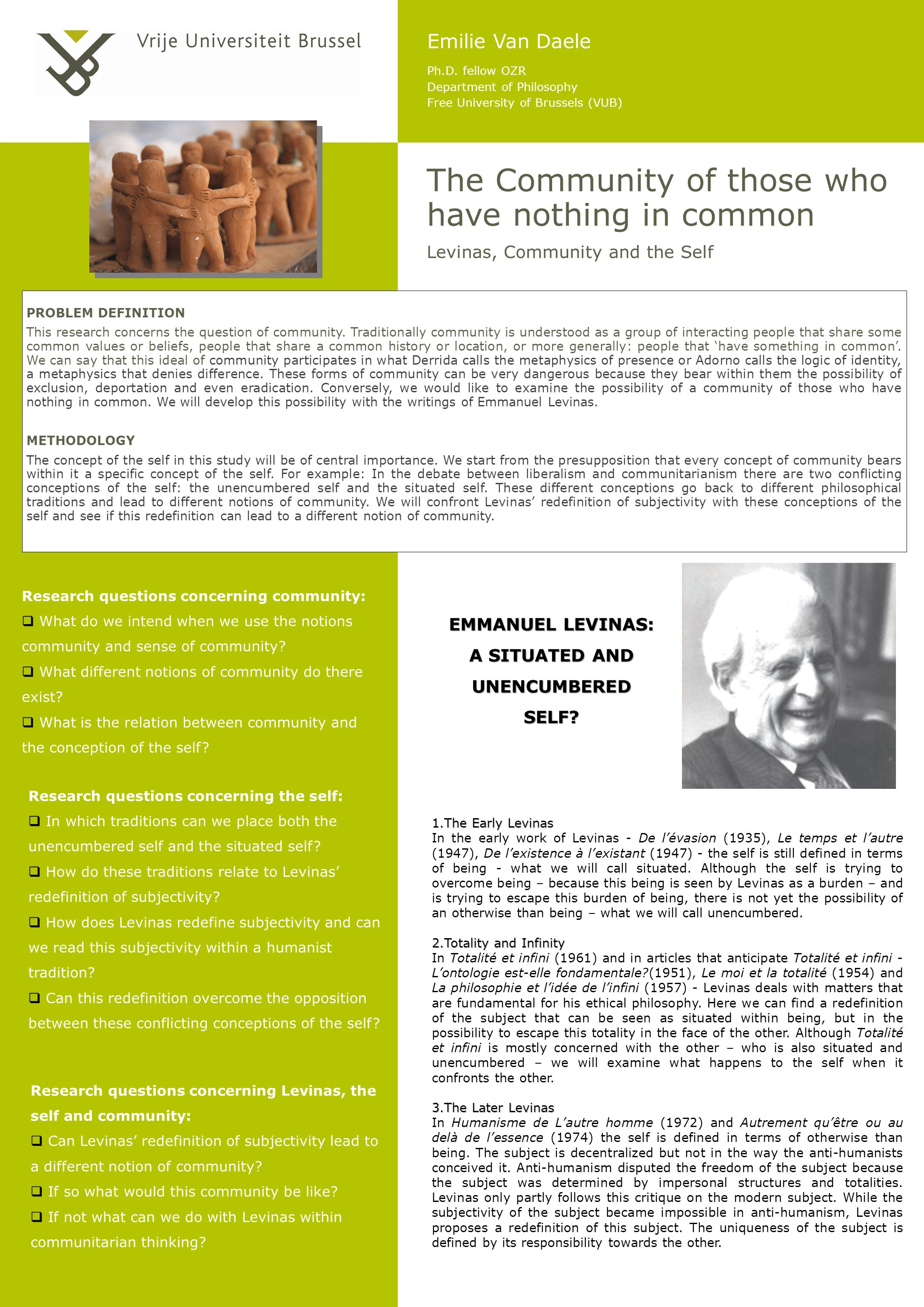 EMMANUEL LEVINAS: A SITUATED AND UNENCUMBERED SELF