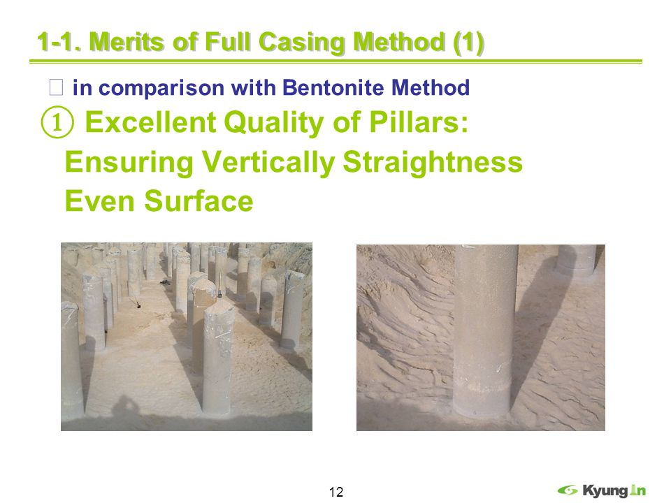 1-1. Merits of Full Casing Method (1)