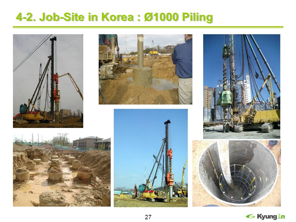 4-2. Job-Site in Korea : Ø1000 Piling
