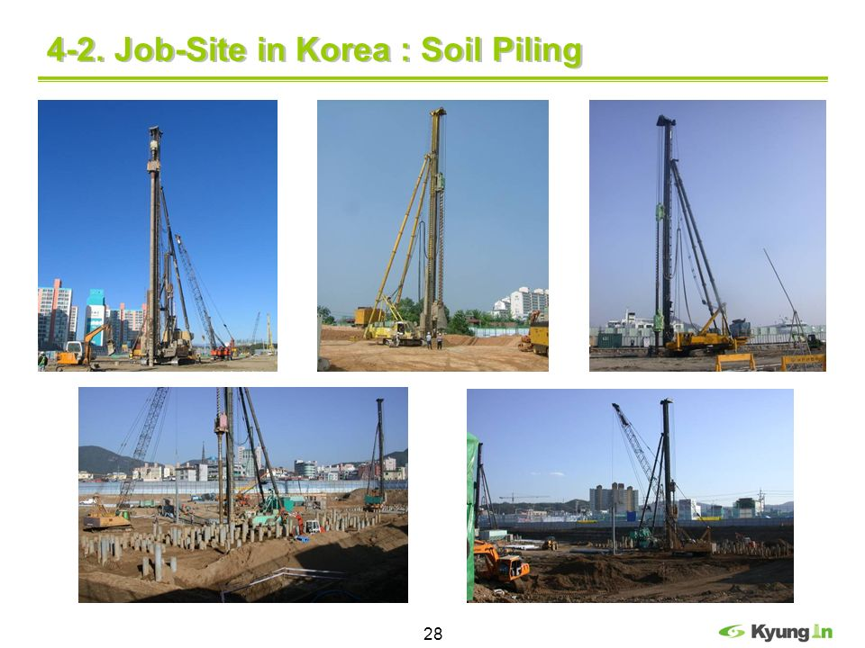 4-2. Job-Site in Korea : Soil Piling