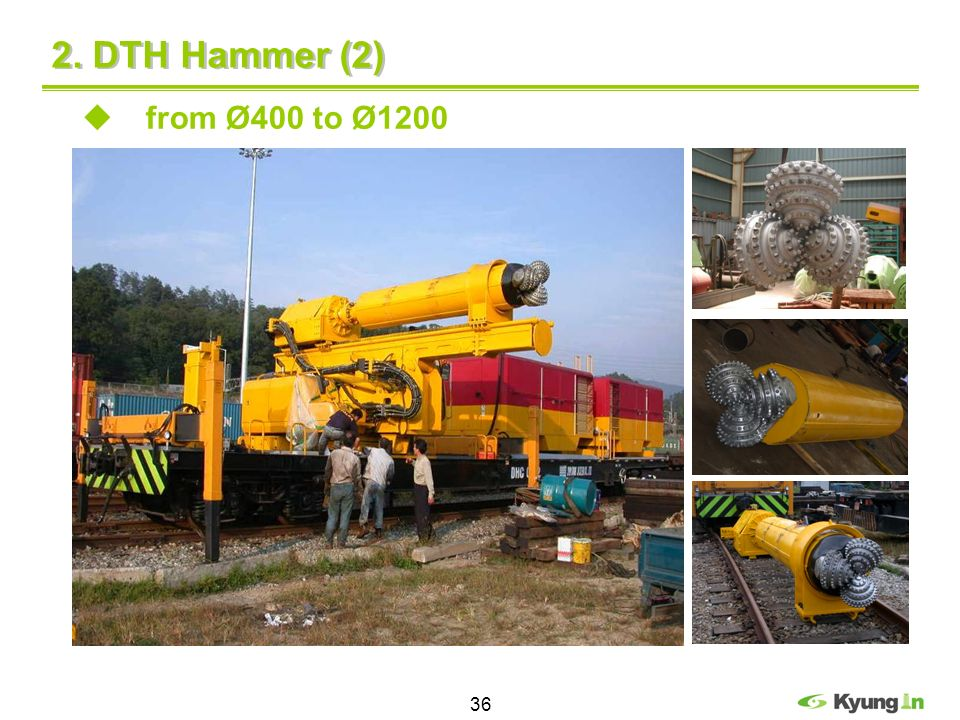 2. DTH Hammer (2) from Ø400 to Ø1200