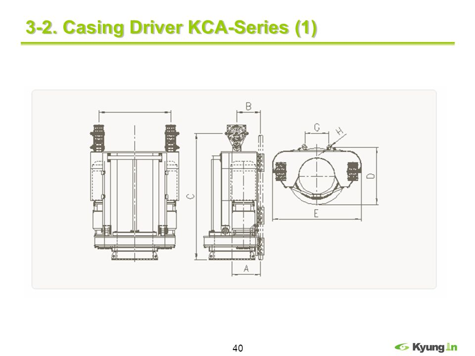 3-2. Casing Driver KCA-Series (1)