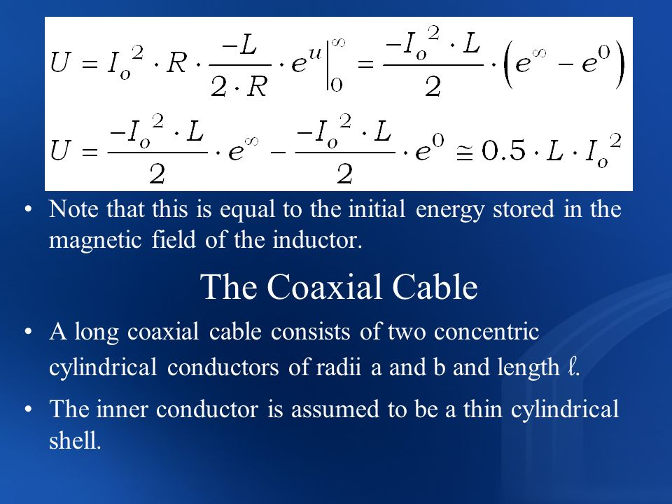 Note that this is equal to the initial energy stored in the magnetic field of the inductor.