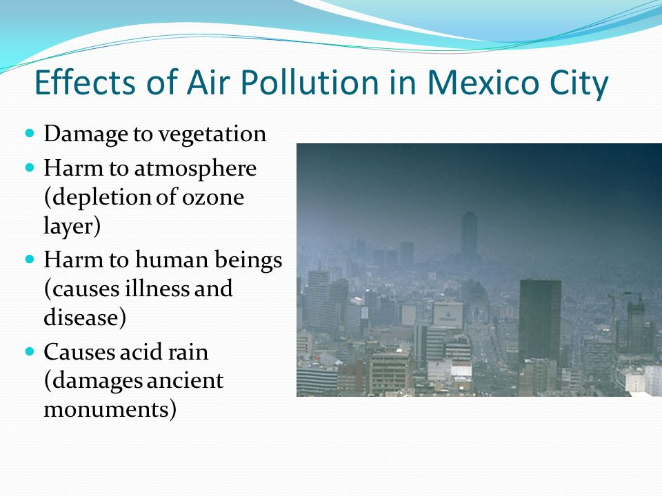 Effects of Air Pollution in Mexico City