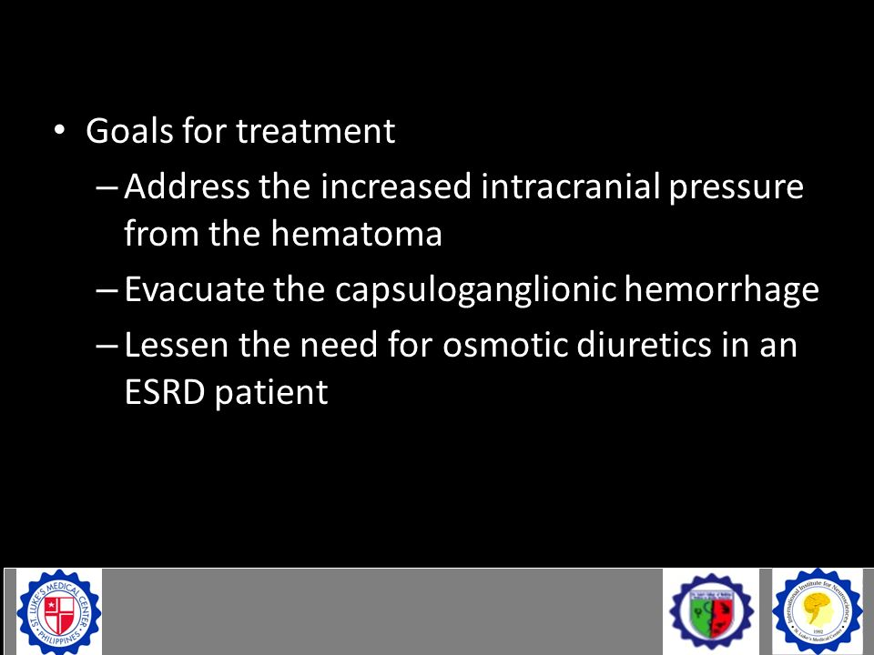 Case Goals for treatment