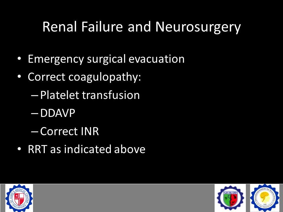 Renal Failure and Neurosurgery