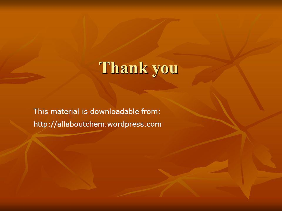 Thank you This material is downloadable from: