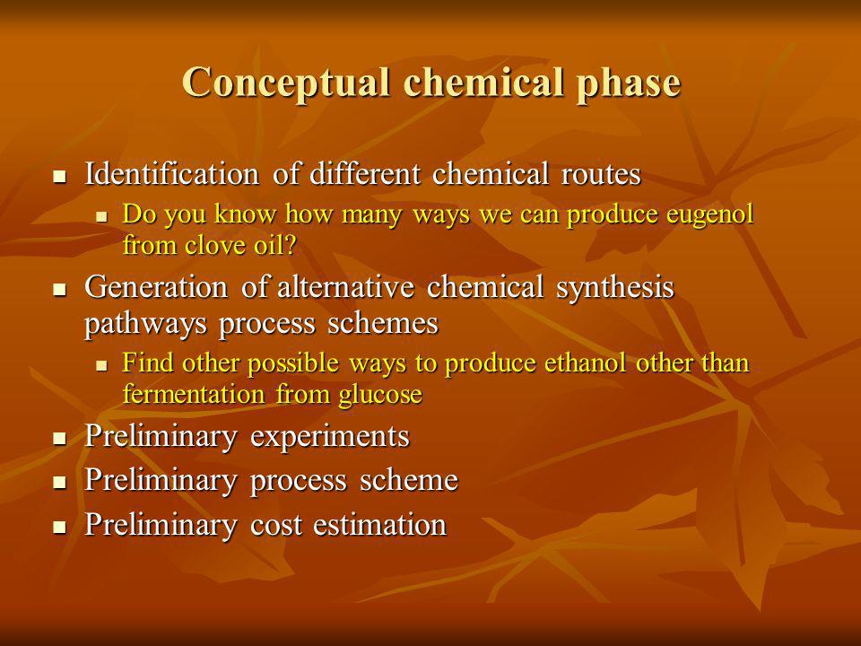 Conceptual chemical phase