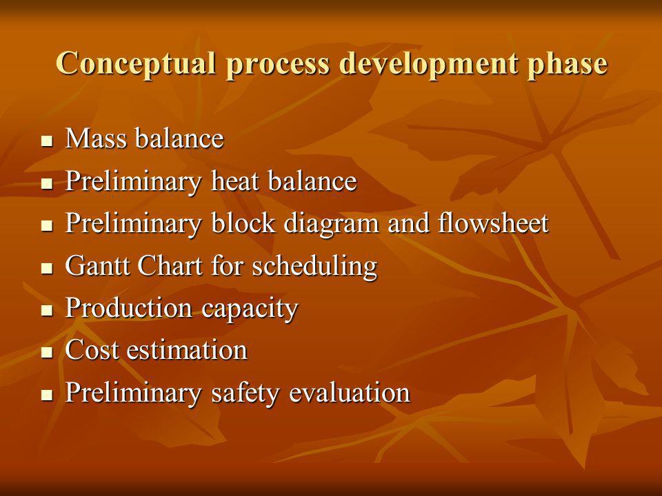 Conceptual process development phase