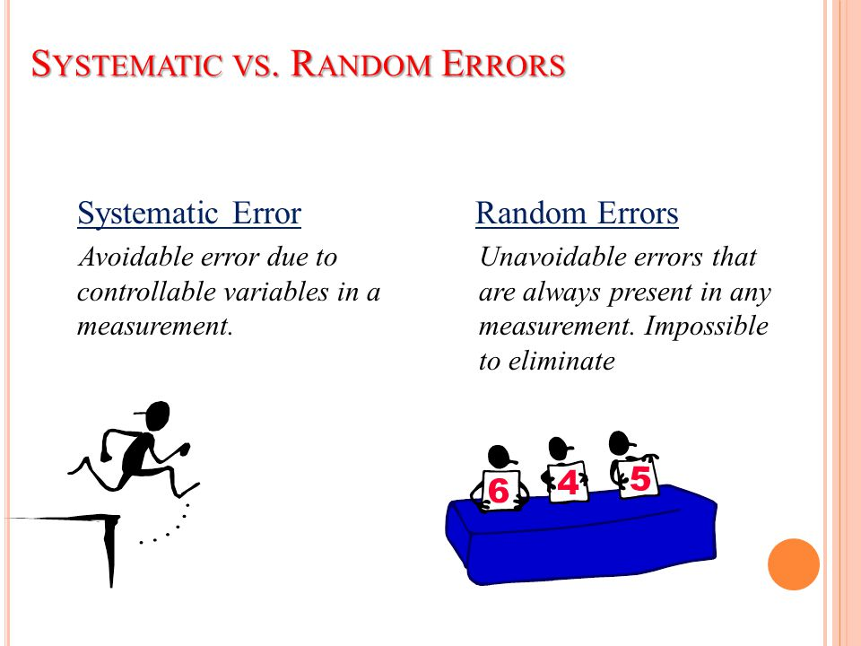 Systematic vs. Random Errors