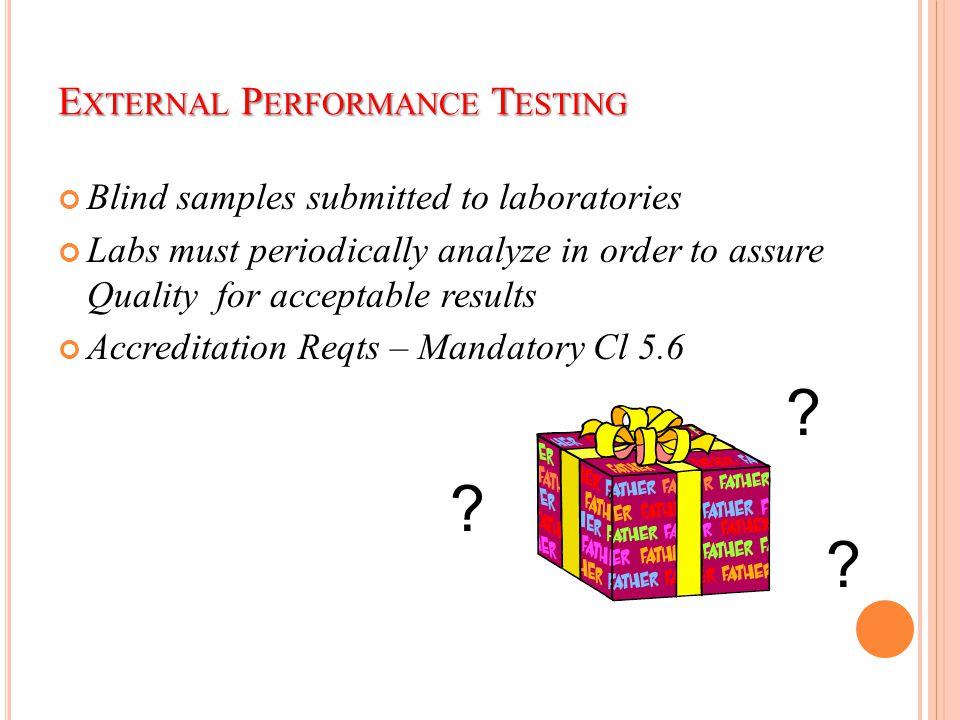 External Performance Testing