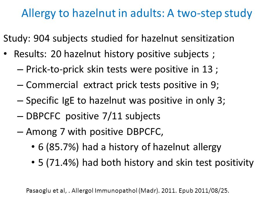 Allergy to hazelnut in adults: A two-step study