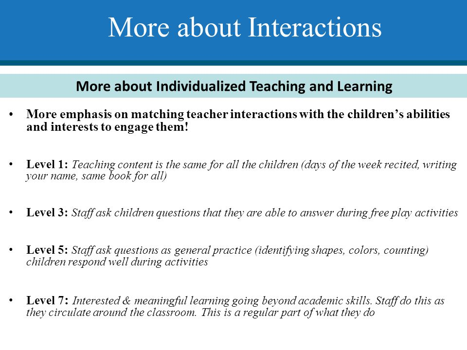 More about Interactions