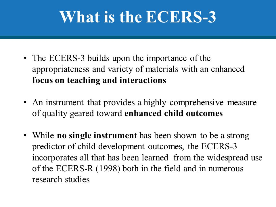 What is the ECERS-3