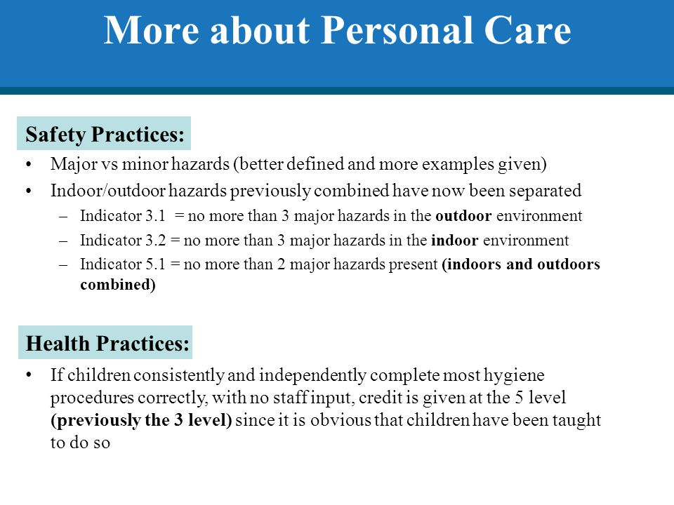 More about Personal Care