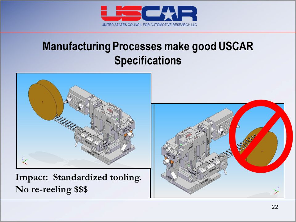 Manufacturing Processes make good USCAR Specifications