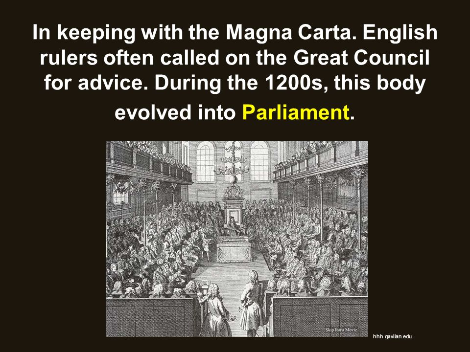 In keeping with the Magna Carta