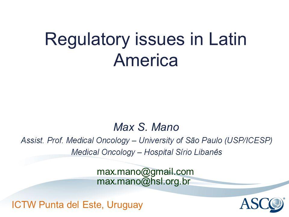Regulatory issues in Latin America