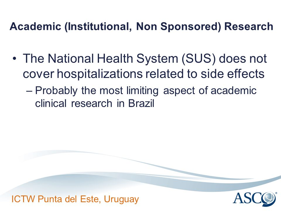 Academic (Institutional, Non Sponsored) Research