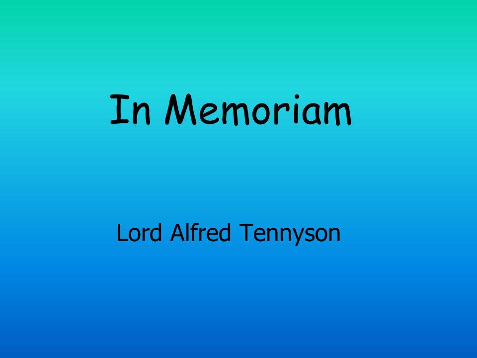 In Memoriam Lord Alfred Tennyson