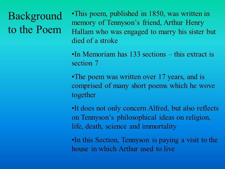 Background to the Poem
