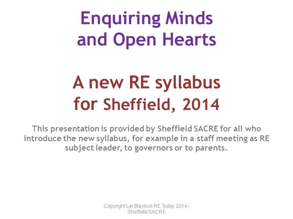Copyright Lat Blaylock RE Today 2014 / Sheffield SACRE