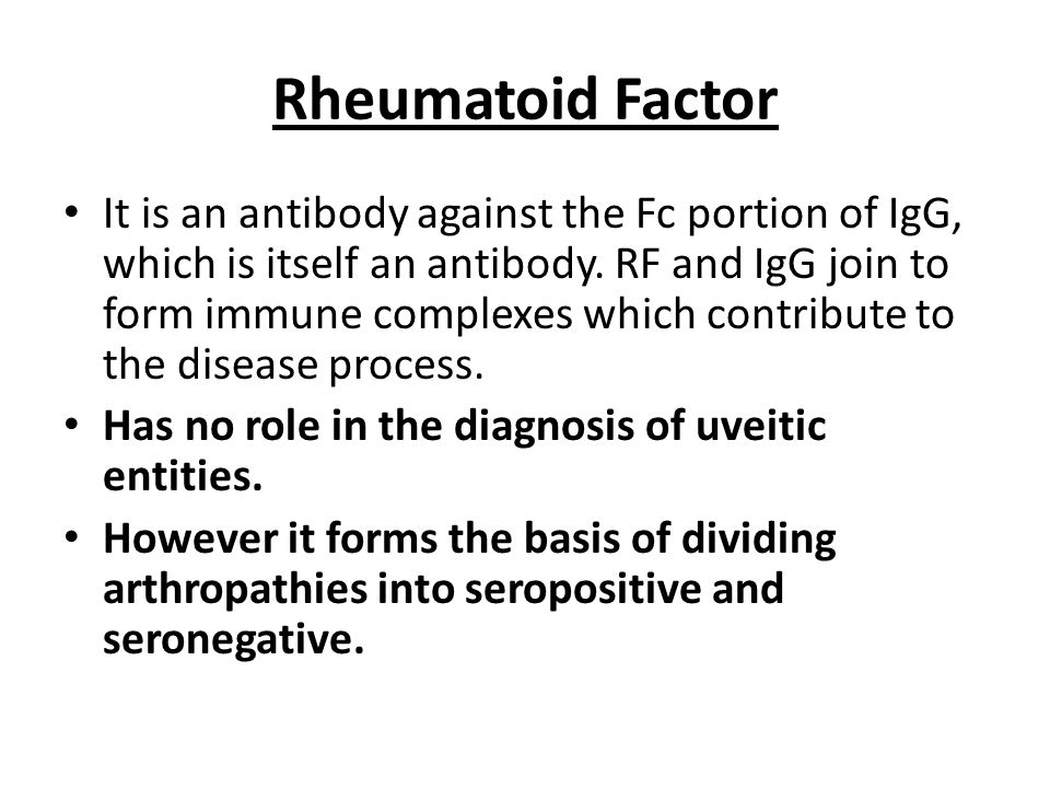 Rheumatoid Factor