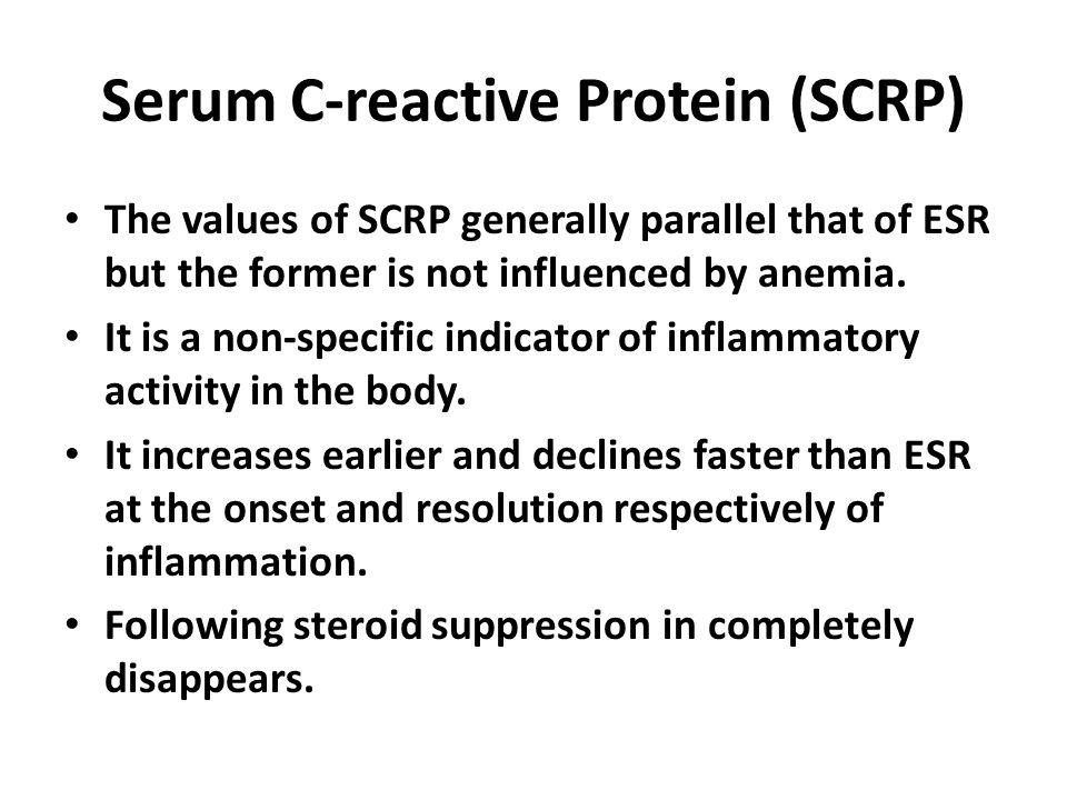 Serum C-reactive Protein (SCRP)
