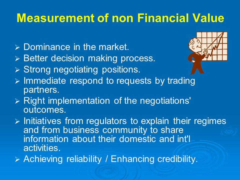 Measurement of non Financial Value