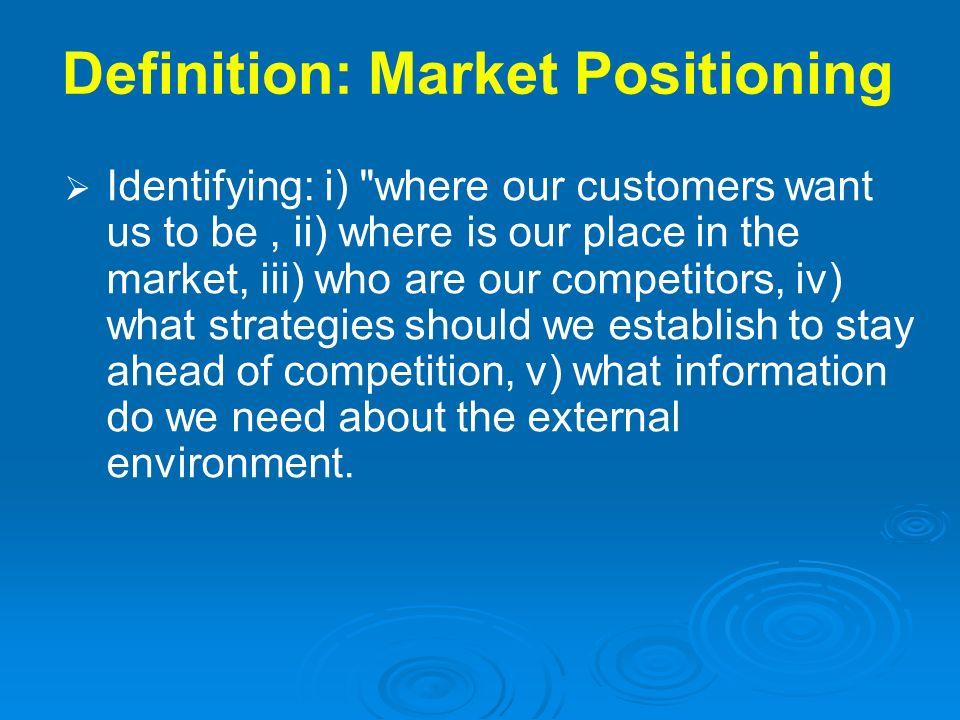 Definition: Market Positioning