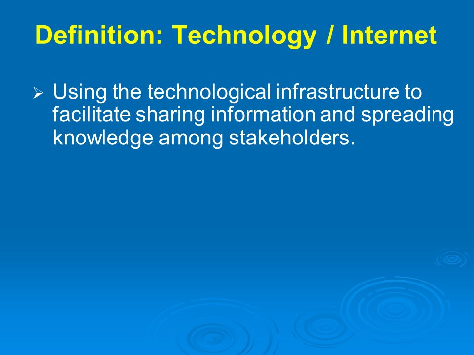 Definition: Technology / Internet