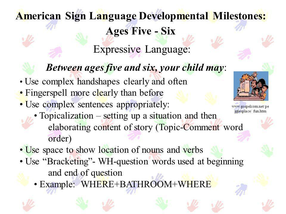 American Sign Language Developmental Milestones:
