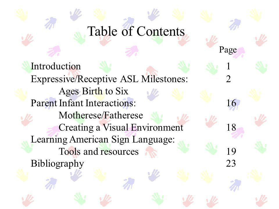 Table of Contents Page Introduction 1