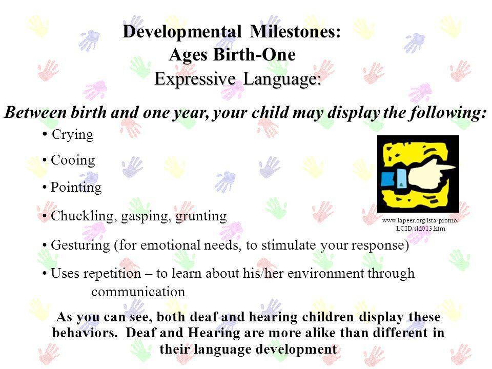 Developmental Milestones: Ages Birth-One