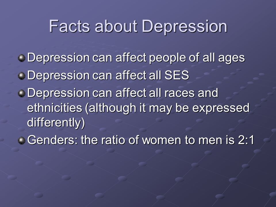 Facts about Depression
