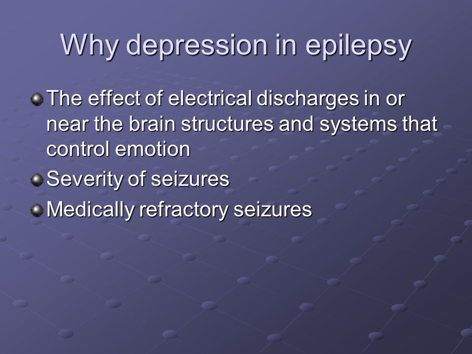 Why depression in epilepsy